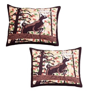 Greenland Home Fashions Whitetail Lodge Standard Pillow Shams (Set of Two)