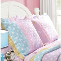 Greenland Home Fashions Polka Dot Stripe Standard Pillow Shams (Set of Two)