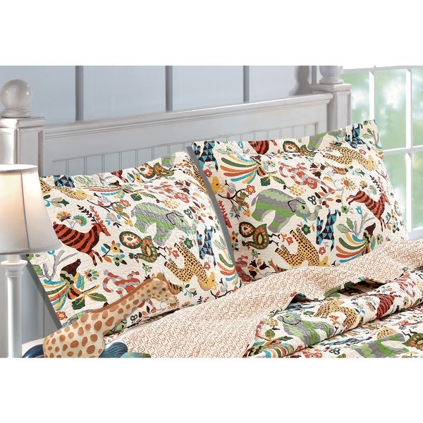 Greenland Home Fashions Safari Park Standard Pillow Shams (Set of Two)