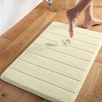 Super Soft and Absorbent 16x24 Memory Foam Bath Mat Ivory