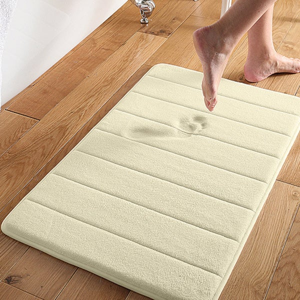 Shop Super Soft And Absorbent 16x24 Memory Foam Bath Mat