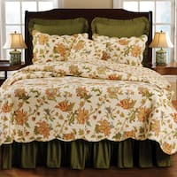 Gracewood Hollow Bradbury Floral Cotton Quilt (Shams Not Included)