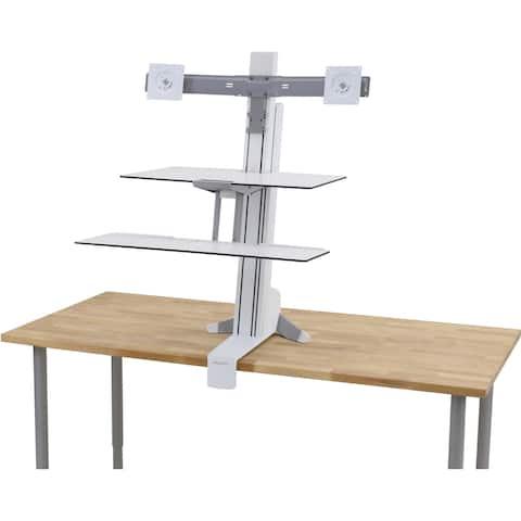 Ergotron WorkFit-S Desk Mount for Monitor, Keyboard - White