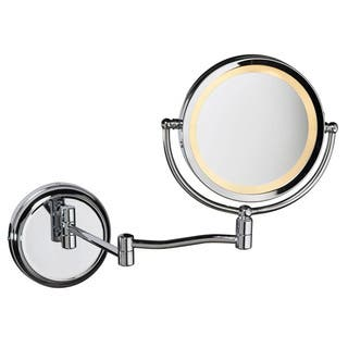Dainolite Swing Arm LED-lighted Magnifier Mirror in Polished Chrome Finish|https://ak1.ostkcdn.com/images/products/10392940/P17496170.jpg?impolicy=medium