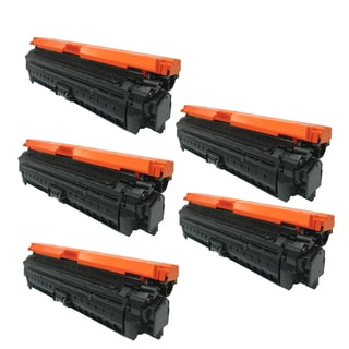 Compatible HP CE270A Black Toner Cartridge CP5520 ( Pack Of 5 )