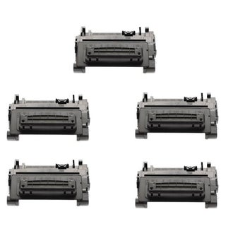HP LaserJet CE390A Black Compatible Quality High Yield Toner Cartridge (Pack of 5)