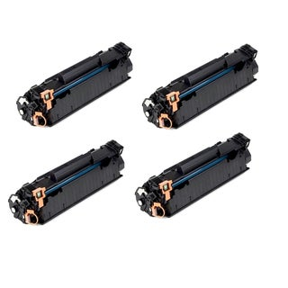 HP CE285A (85A) Black Compatible Laser Toner Cartridge (Pack of 4)
