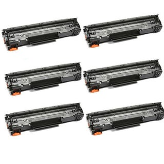 HP CE278A (78A) Black Compatible Laser Toner Cartridge (Pack of 6)
