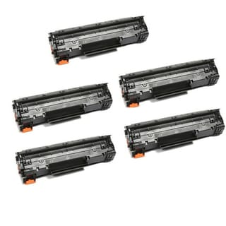 HP CE278A (78A) Black Compatible Laser Toner Cartridge (Pack of 5)