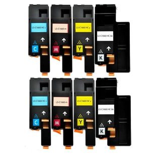 Compatible Dell C1660 Black Cyan Yellow Magenta Toner Cartridge ( Pack Of 8 )