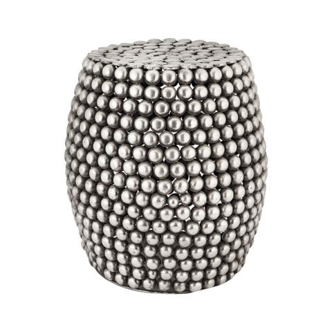 LS Dimond Home Pewter Pebble Stool