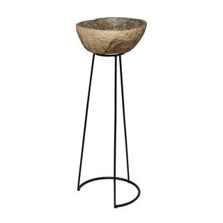 LS Dimond Home Stone and Wire Frame Pedestal