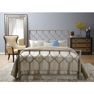 Honeycomb Brushed Gold Bed