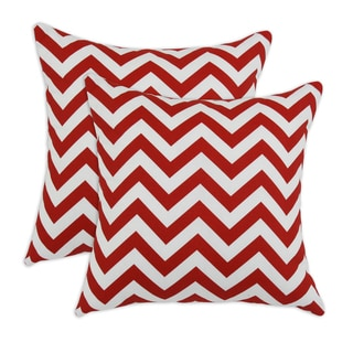 Zig Zag Lipstick 17x17 Pillow - Set of 2