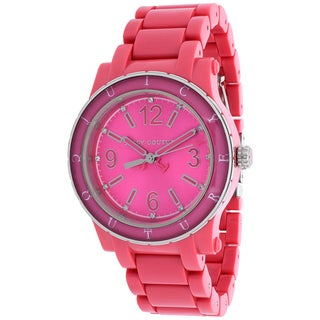 Juicy Couture Women's 1900804 HRH Round Pink Plastic Bracelet Watch