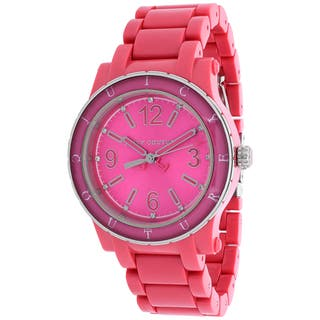 Juicy Couture Women's 1900804 HRH Round Pink Plastic Bracelet Watch|https://ak1.ostkcdn.com/images/products/10394218/P17497283.jpg?impolicy=medium