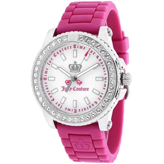 Juicy Couture Women's 1900703 Pedigree Round Pink Silicone Strap Watch