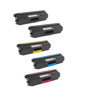 Compatible Brother TN339/ HL-9200CDWT/ HL-8350CDW 2 Black, 1 Yellow, 1 Cyan, 1 Magenta Toner Cartridges (Pack of 5)