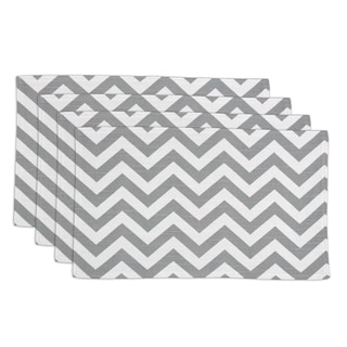Zig Zag Ash 12.5x19 Lined Placemats (Set of 4)