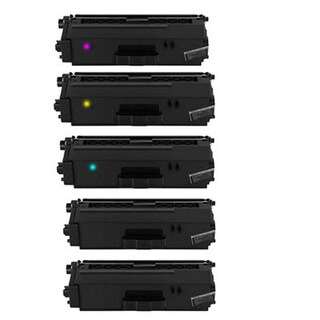 Compatible Brother TN336/ HL-8350CDW/ DCP-L8450CDW 2 Black 1 Cyan, 1 Yellow, 1 Magenta Toner Cartridges (Pack of 5)