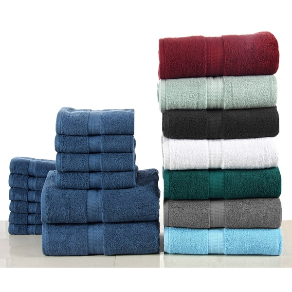 Bano Senses Cotton 600 GSM 12-piece Towel Set  sc 1 st  Overstock & Bano Senses Cotton 600 GSM 12-piece Towel Set - Free Shipping ...