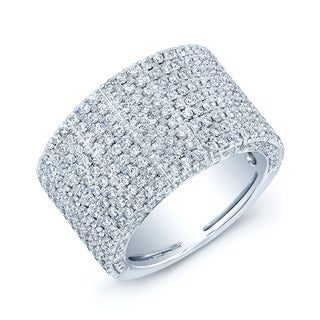 Estie G 18k White Gold 1 7/8ct TDW Pave Diamond 9-row Band