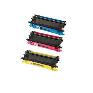 Compatible Brother TN210/ HL-3040/ HL-3040CN Yellow, Cyan, Magenta Toner Cartridge (Pack of 3)