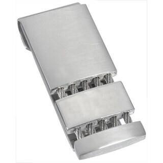 Visol Perseus Satin and Polished Stainless Steel Money Clip