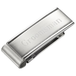 Visol Groomsman Hinged Clip Personalized Money Clip