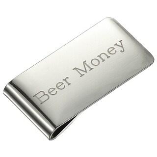 Visol Beer Money Brushed Chrome Money Clip
