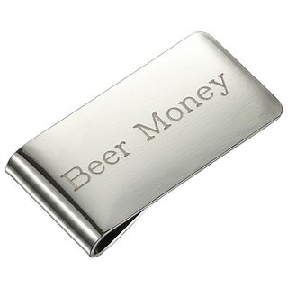 Visol Beer Money Brushed Chrome Money Clip