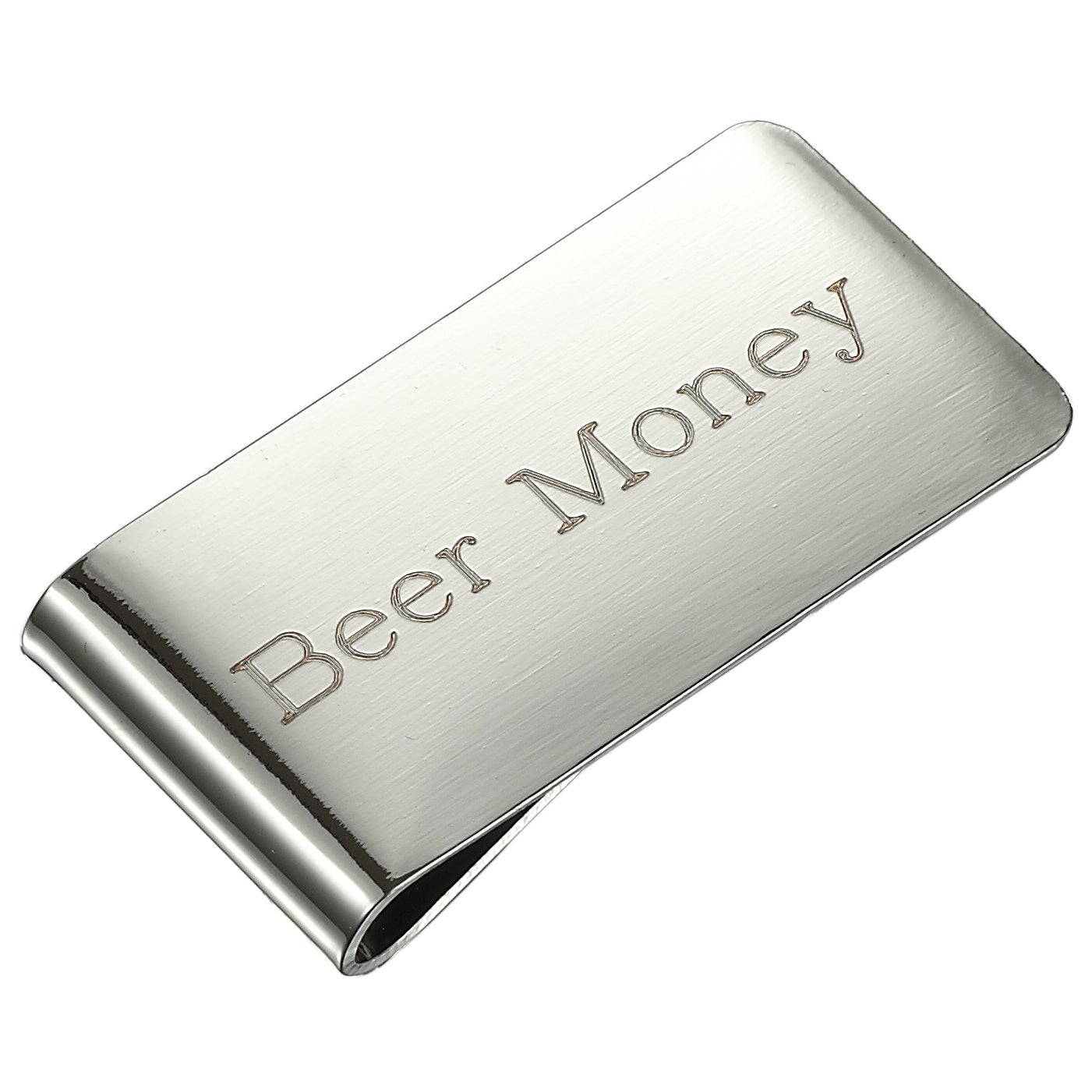 Visol Origin Gunmetal Money Clip Personalized With Initial M