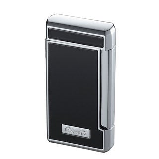Caseti Tyros Double Jet Flame Cigar Lighter - Black Lacquer (Ships Degassed)