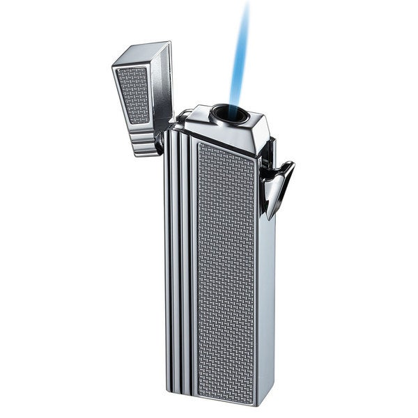 Caseti Wilhelm Compact Torch Flame Lighter - White Carbon Fiber (Ships Degassed)