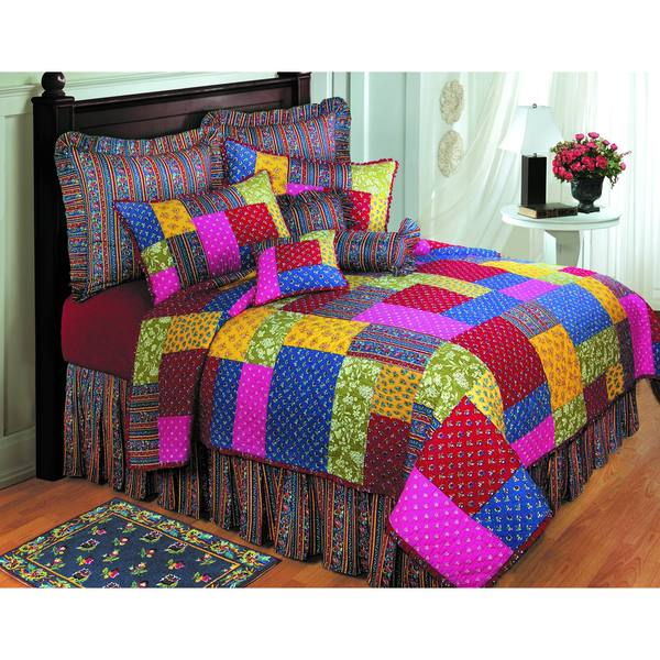 Cara Pieced Cotton Quilt (Shams Not Included)