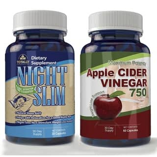 Apple Cider Vinegar High Potency & Night Slim-Night Time Weight Loss Pack|https://ak1.ostkcdn.com/images/products/10394560/P17497593.jpg?impolicy=medium
