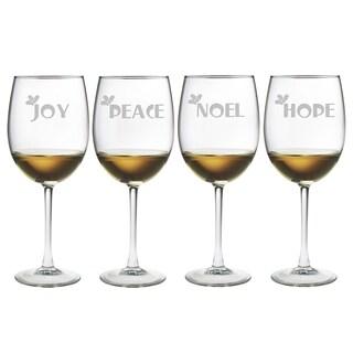 Joy Peace Noel Hope Wine Glass (Set of 4)