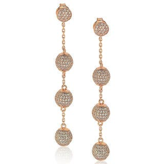 Suzy Levian Sterling Silver Cubic Zirconia Ball Drop Earrings|https://ak1.ostkcdn.com/images/products/10394600/P17497622.jpg?impolicy=medium
