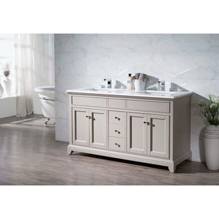 Stufurhome Arianny 59 Inch Double Sink Bathroom Vanity