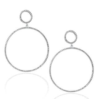 Suzy Levian Sterling Silver Micro Pave Cubic Zirconia Double Hoop Earrings|https://ak1.ostkcdn.com/images/products/10394612/P17497628.jpg?impolicy=medium