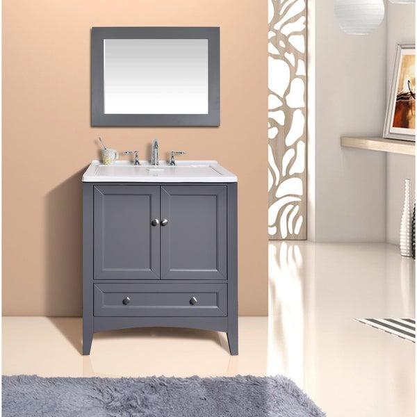 Drop In Laundry Sink For 24 Inch Cabinet : Stufurhome 30.5-inch Grey Laundry Utility Single Sink - Free Shipping ...