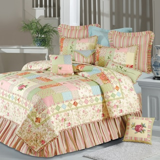 Butterfly Garden Cotton Quilt (Shams Not Included) - Multi