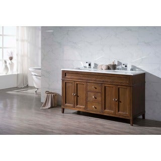 Stufurhome Hamilton 59 Inch Double Sink Bathroom Vanity