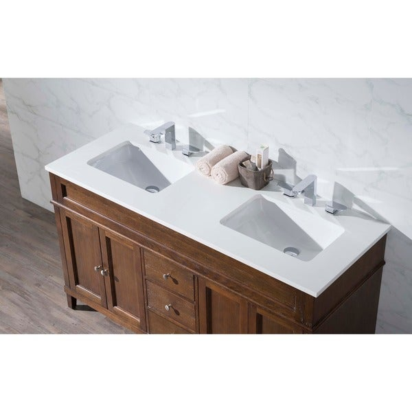 stufurhome hamilton 59 inch double sink bathroom vanity - free