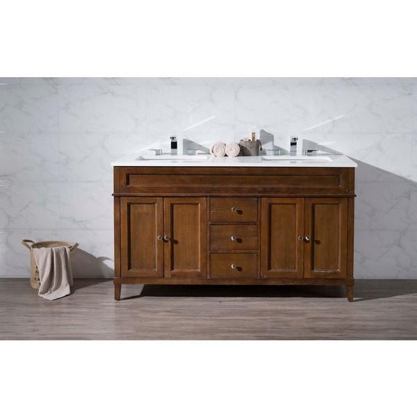 Stufurhome Hamilton 59 Inch Double Sink Bathroom Vanity   Free Shipping  Today   Overstock.com   17497732
