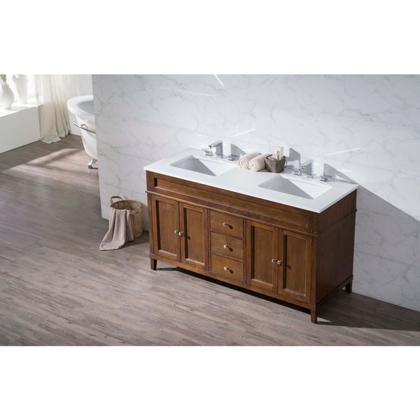 stufurhome hamilton 59 inch double sink bathroom vanity - free