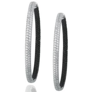 Suzy Levian Pave Cubic Zirconia Sterling Silver Earrings|https://ak1.ostkcdn.com/images/products/10394633/P17497643.jpg?impolicy=medium