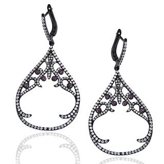 Suzy Levian Pave Cubic Zirconia Sterling Silver Earrings