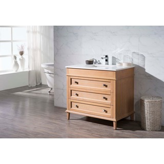 Stufurhome Norwood 37 Inch Single Sink Bathroom Vanity