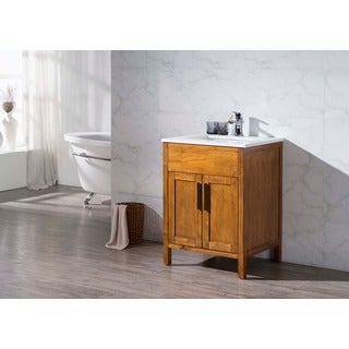 Stufurhome Evangeline 25 Inch Single Sink Bathroom Vanity